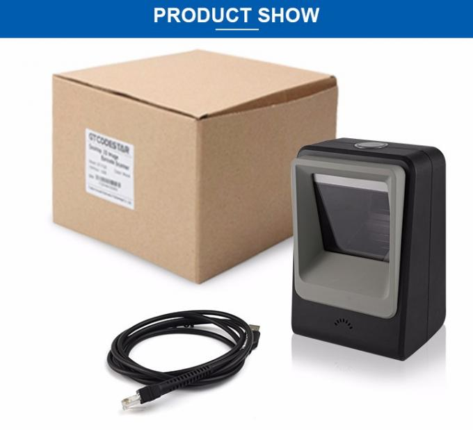 Fixed Mount Desktop 2D Barcode Scanner With Leading CMOS Image Recognition DP8200