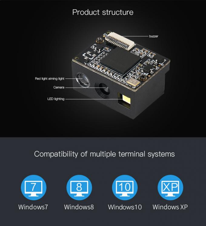 Barcode 2D Scan Engine Embedded Module USB TTL RS232 For IoT Project CE RoHS Approved