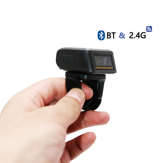 Mini Bluetooth 1D Ring Wireless Barcode Scanner Laser Reader For Retail Chain
