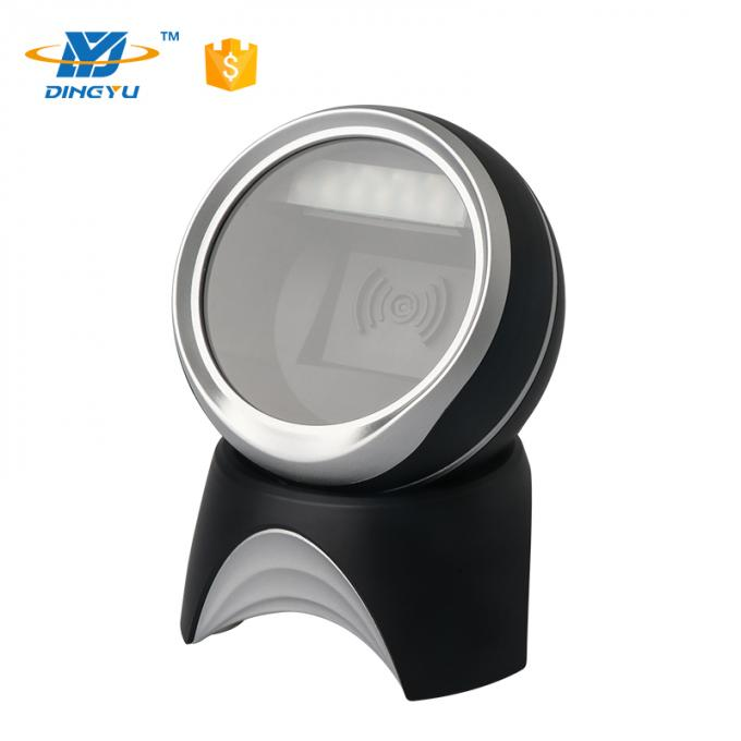2D cmos black silk omnidirectional mini Desktop Barcode Scanner for supermarkets retailers