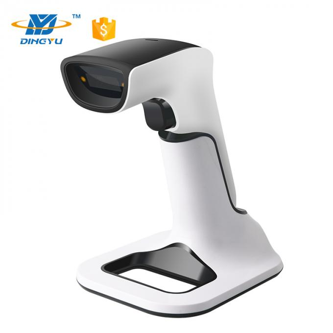Bluetooth Wireless 2.4G Barcode Scanner 2D qr code reader with charging stand DS6510B-M9