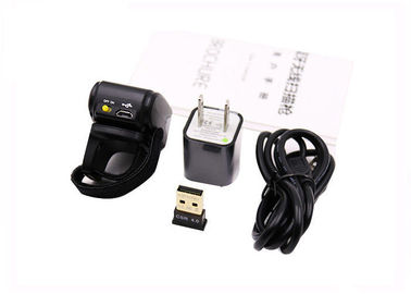 Portable Finger Barcode Reader , Android IOS Bluetooth Ring Barcode Scanner DI9030-1D