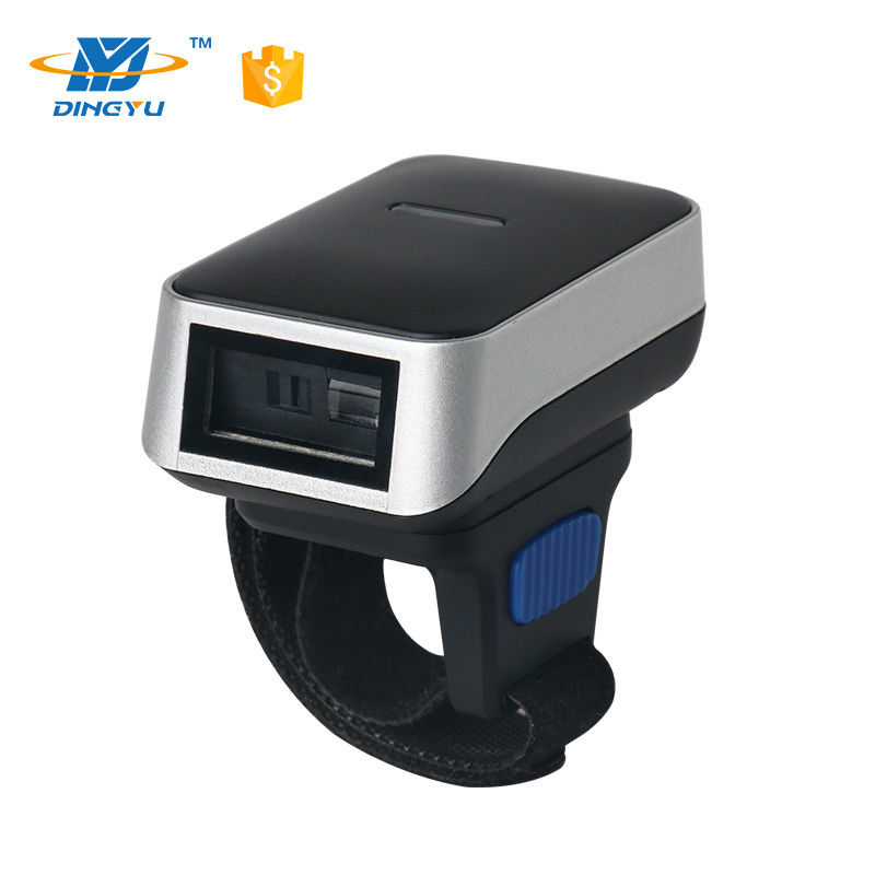 Portable Finger Barcode Reader , Android IOS Bluetooth Ring Barcode Scanner DI9010-1D