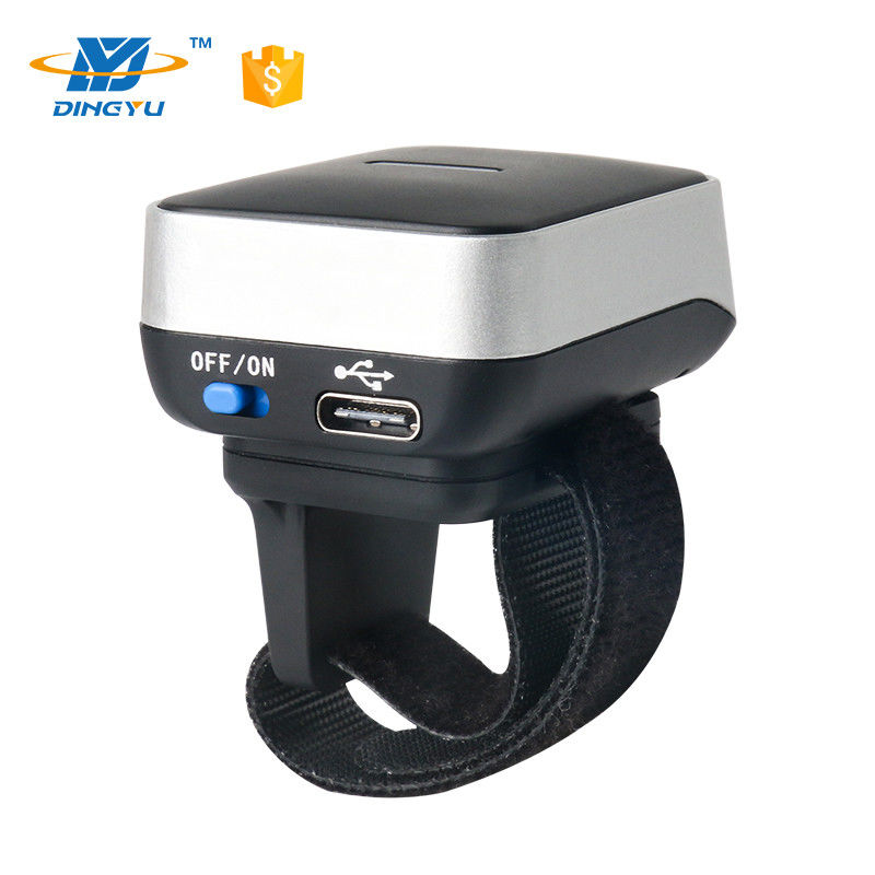 Mini Wearable Barcode Scanner , 2d Cmos  Bluetooth Finger Barcode Scanner DI9010-2D